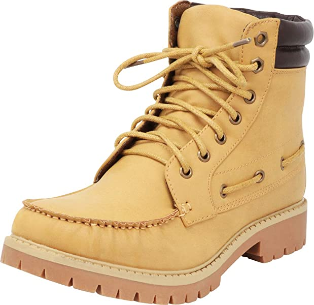 7dcd0eda86a Cambridge Select Women s Round Toe Padded Collar Work Lace-Up Chunky Lug  Sole Ankle Boot