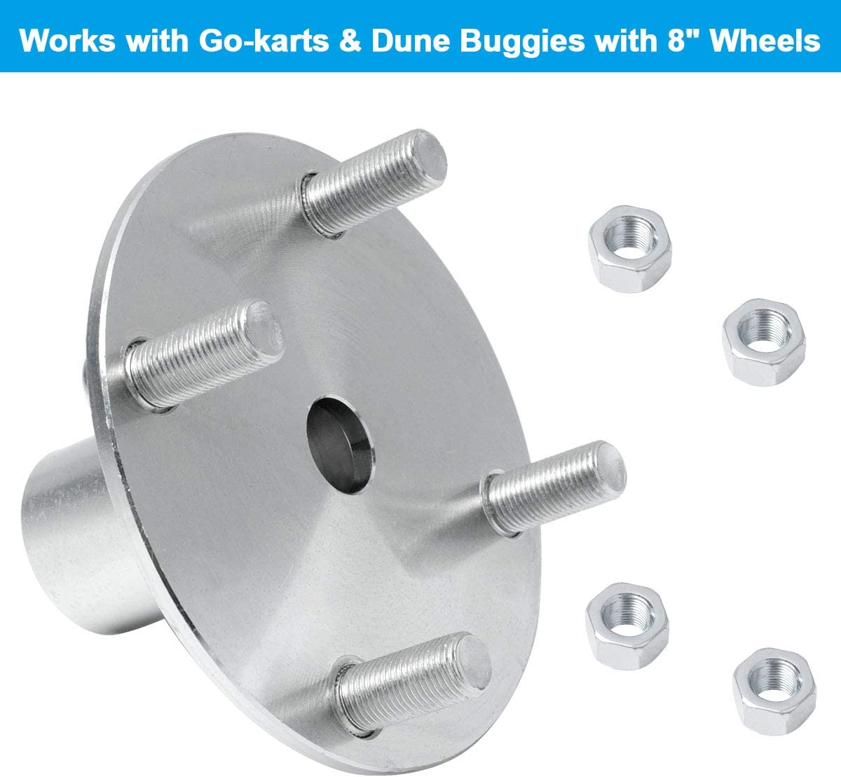 Gekufa Go Kart Live Axle Hub 4 x 4 with 2-3//4 Hub and 1 to 3//4 Step Down