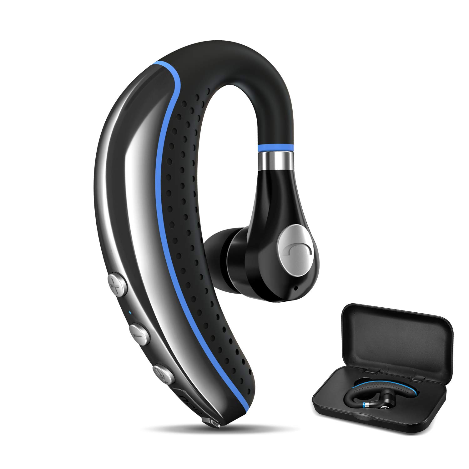 Bluetooth Headset, FimiTech Wireless Earpiece V5.0 Ultralight Hands Free Business Earphone with Mic for Business/Office/Driving by FIMITECH