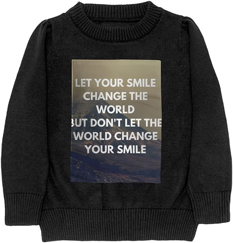 DTMN7 Let Your Smile Change The World Teens Sweater Long Sleeves Crew-Neck Youth Athletic Casual Tee Junior Boys