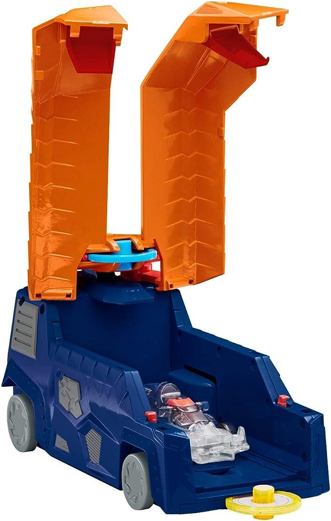 "Screechers Wild DX Screecher Hiss Runner Flipping Morphing Toy Car Vehicle 7"" X 4"", Blue/Orange"
