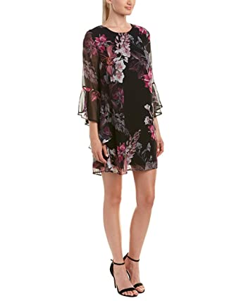 375decd6e0e CeCe Women s Ashley Bell Sleeve Blooms Dress at Amazon Women s Clothing  store