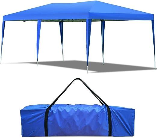 COSTWAY 3 x 6 m Carpa para Fiesta Boda Pabellón de Jardín Tienda de Campaña con Bolsa de Transporte (Azul): Amazon.es: Jardín