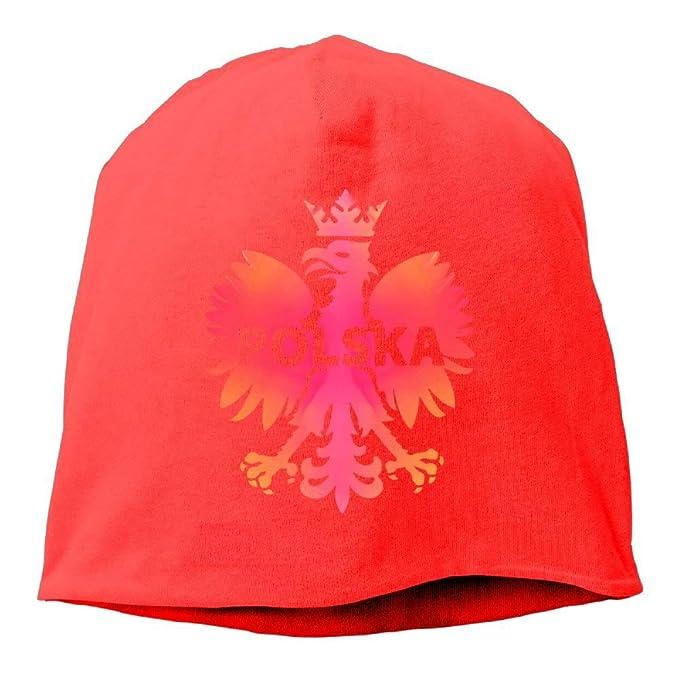 Colorful Poland Polska Eagle Gorros Gorra para Hombre Mujer Rojo ...