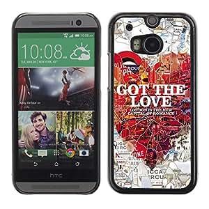 A-type Arte & diseño plástico duro Fundas Cover Cubre Hard Case Cover para All New HTC One (M8) ( Londres Amor )