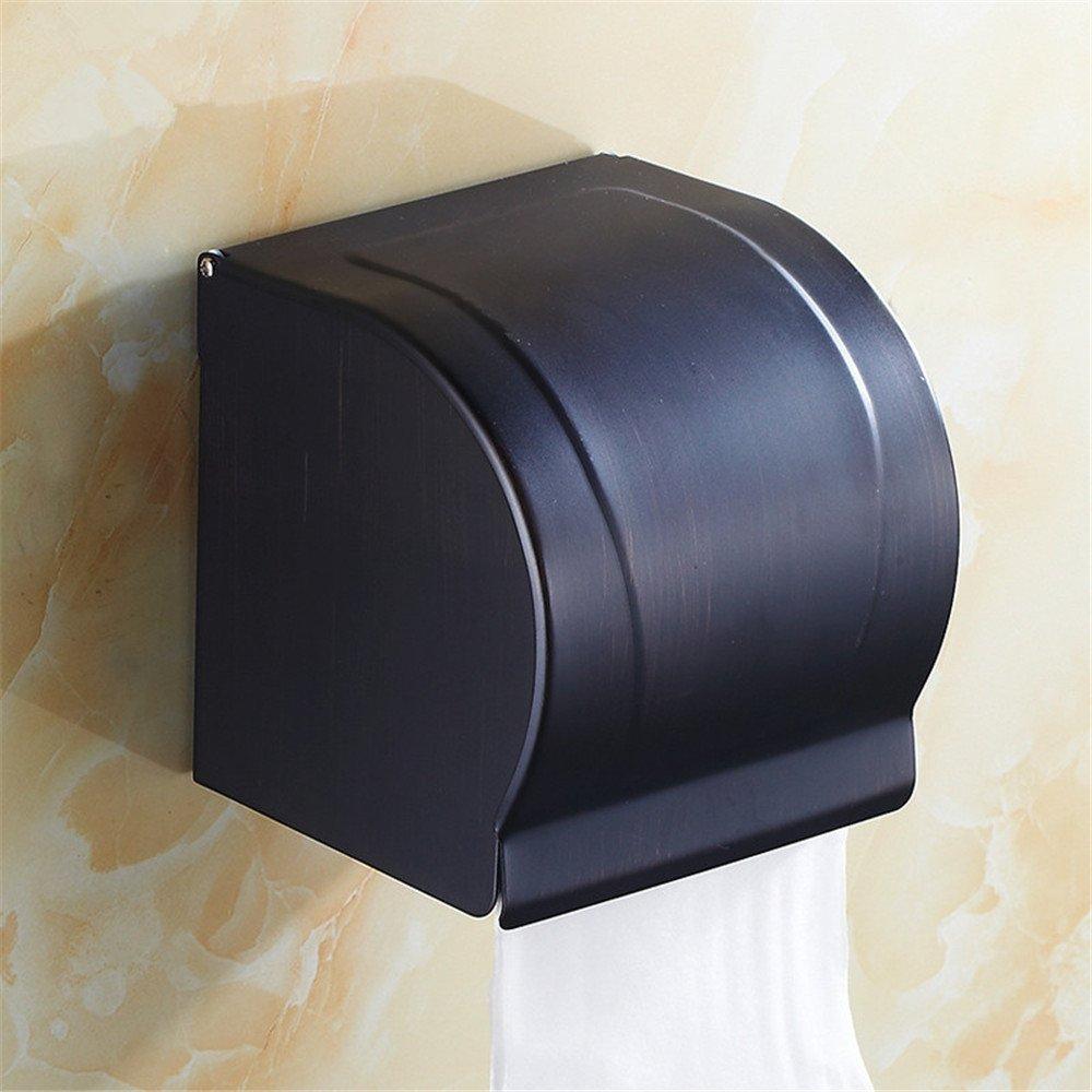 Accesorios de baño Yomiokla - Toalla de de de metal para cocina, inodoro, balcón y bañoEuropa, Estados Unidos cobre completo negro, de tejas azules estante incorporado empaquetado portarrollos d84a42