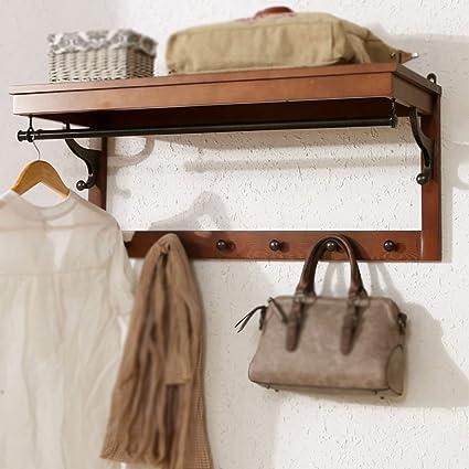 Amazon.com: FAFZ Wall Mount Storage Shelf Coat Rack Wall ...