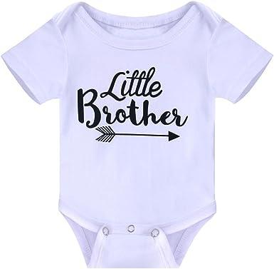 Newborn Infrant Baby Girls Big Sister Shirt Pants Summer Tops Little Brother Shirt Baby Bodysuit