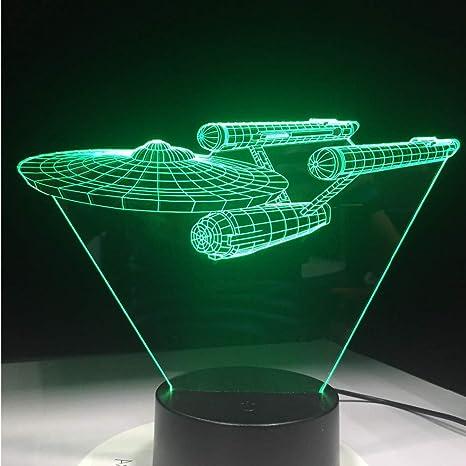 Crjzty Star Trek Enterprise 3D Led Usb Night Light Luces De Mesa ...