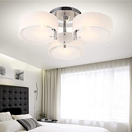 Remarkable Dhoutdoors Modern Ceiling Light Round Indoor Lighting For Living Room Bedroom Kitchen E27 Creative Pendant Lamp No Bulbs 3 Way Download Free Architecture Designs Barepgrimeyleaguecom