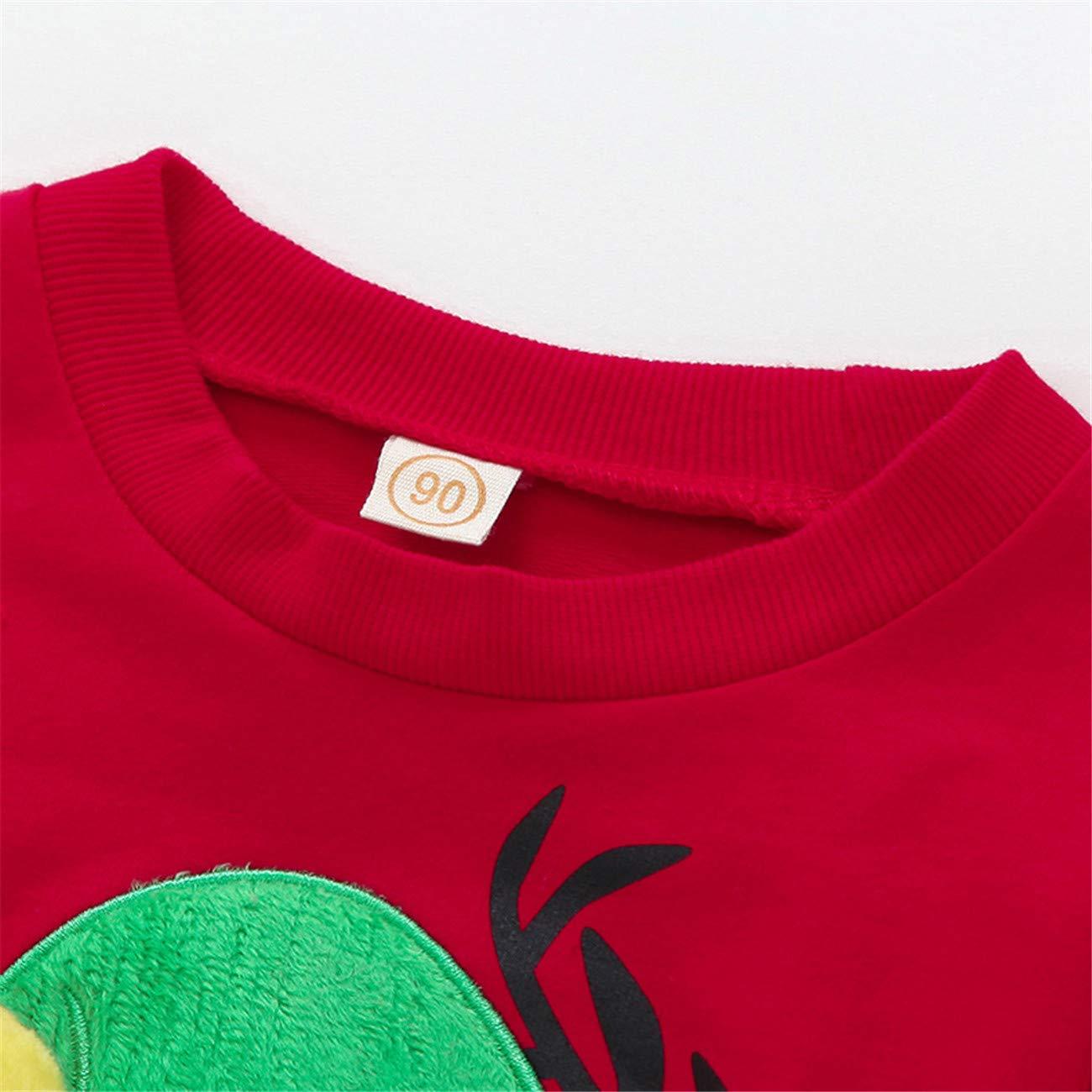 HCFKJ Ropa Bebe NiñA Invierno NiñO Manga Larga Camisetas Beb Conjuntos Moda NiñOs PequeñOs Bebé NiñAs NiñOs Chicos Navidad Sombreros Alce Print Jersey ...