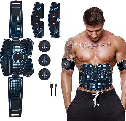 ABS Trainer EMS Smart Ceinture USB de Charger Electrostimulateur Musculaire Fitness Entra?Nement Tonifier Domicile Cuisse Ventre Bras Jambe Chaudedoux Appareil Abdominal