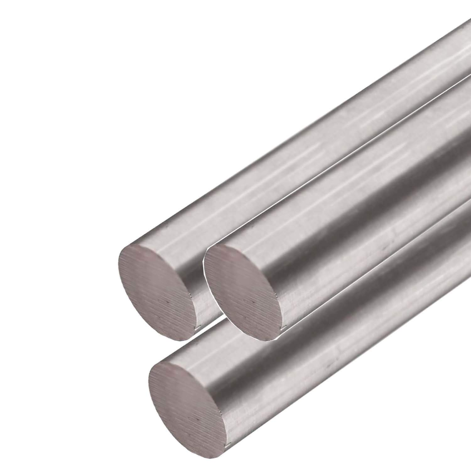 Online Metal Supply 15-5 Stainless Steel Round Rod, 0.131 (1/8 inch Oversized) x 12 Feet (3 Pieces, 48'' Long) by Online Metal Supply