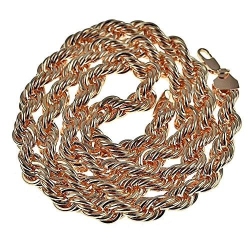 Rope Chain Rose Gold Finish 10 mm Thick 30