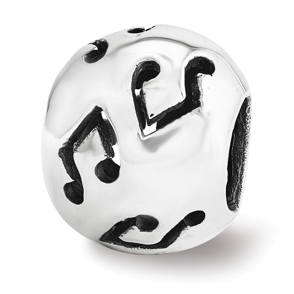Sterling Silver Reflections Cutout Music Note Bead