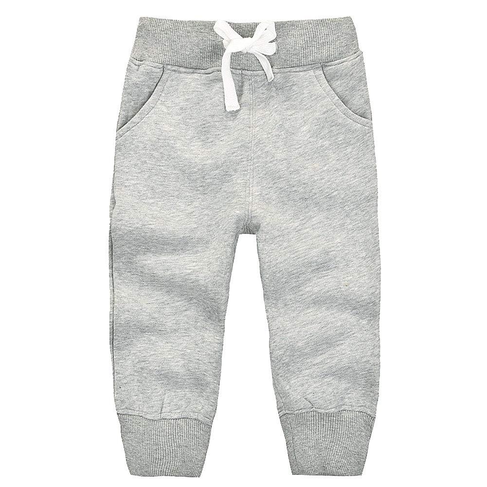 GGTFA Unisex Bambino Ragazzo Ragazza Ragazzi Pantaloni Felpa di Cotone Elastico in Vita I Pantaloni della Tuta Fondi Pantaloni Invernali