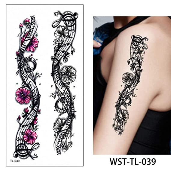adgkitb 4 unids Mujeres joyería Tatuaje Temporal Pecho Cintura ...