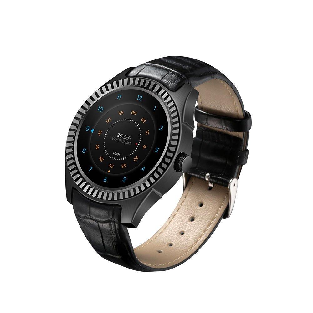 D7 Smart Watch Android 4.4 Bluetooth 4.0 NFC GPS WIFI 3G Smartwatch Heart Rate Monitor 1GB RAM 8GB ROM SIM Smart Wristwatch (Black)