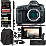 Canon EOS 5D Mark IV DSLR Camera with Canon Log (Body Only), Atomos Ninja Inferno 7 in. 4K Monitor, SanDisk 64 GB Memory Card, 5D IV Grip, 72″ Monopod, Camera Bag, Microphone, and Accessory Bundle For Sale