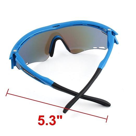 Amazon.com : eDealMax ROBESBON autorizado Unisex aire Libre Deportes de lentes intercambiables sin Marco gafas de sol polarizadas gafas Ciclismo conjunto ...
