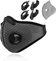 Dustproof Masks - Activated Carbon Dust Mask with Extra Filter Cotton Sheet and Valves for Exhaust Gas, Pollen Allergy,...