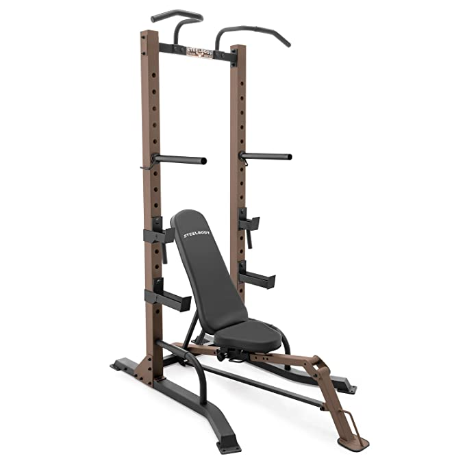 SteelBody stb-98502 Power Tower Rack y Plegable Ajustable Banco: Amazon.es: Deportes y aire libre