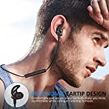 Bluetooth Headphones, Wireless Headphones, ATGOIN Wireless Bluetooth Earphones Stereo Sweatproof Magnetic Earbuds Secure Fit for Sports Gym Running Exercising with Built-in Mic Microphone