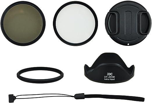 Pare Soleil CELLONIC/® Pare-Soleil Objectif LH-DC90 Compatible avec Canon PowerShot SX60 HS Appareil Photo cam/éra Capuchon /à lentille