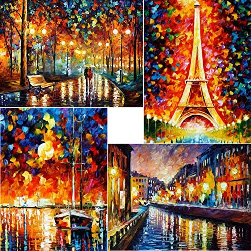 "ARTDOT 5D DIY Diamond Painting Kits for Adults 4 Pack Full Drill Diamond Art Craft Canvas Supply for Adults, Beginners, Home Wall Decor 12""X16"""