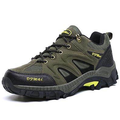 MSKAY MEN SHOES Wasserdicht Anti-Slip Trekkingstiefel Wanderstiefel Wanderschuhe Schuhe Damen, Dark Blue, 41