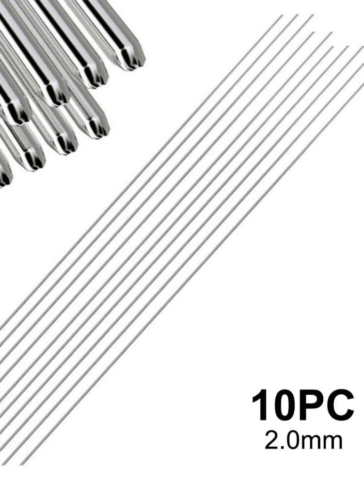 1.6mm//10pc rethyrel Alluminio Saldatura Rod 10//50//100PCS Bassa Temperatura Saldatura brasatura Asta Senza Bisogno di Saldatura Polvere 33cmx1.6mm//2.0mm Argento