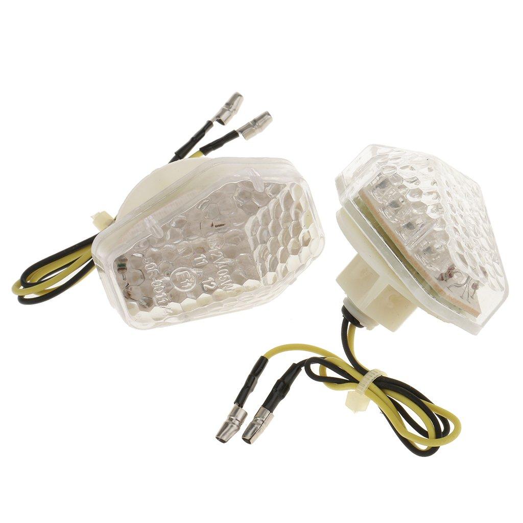 MagiDeal 2x Clignotants /Éclairage Lampe Moto Accessoire Pi/èce Pour Suzuki GSXR 600 Ampoules Ext/érieurs