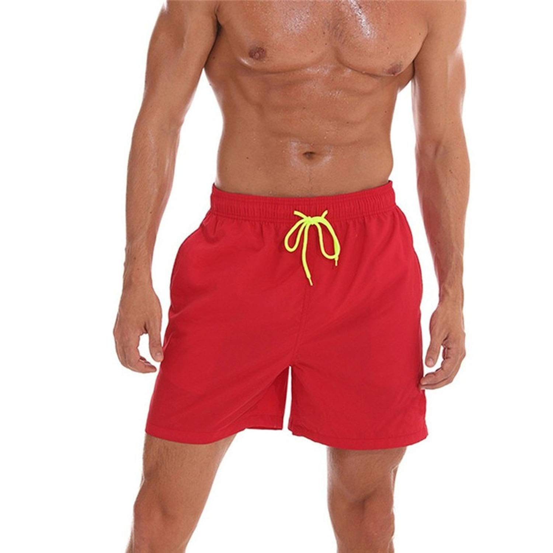 Yanlian1 2019 Mens Swimsuit Swimming Shorts Men Briefs Beach Shorts Sports Suits Surf Board Shorts,Blue,XXL