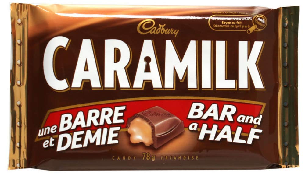 Cadbury Caramilk Bar and a Half Size - 24 x 78gram bars in each box | More Than 4 lbs. of Canadian Chocolate | Imported from Canada