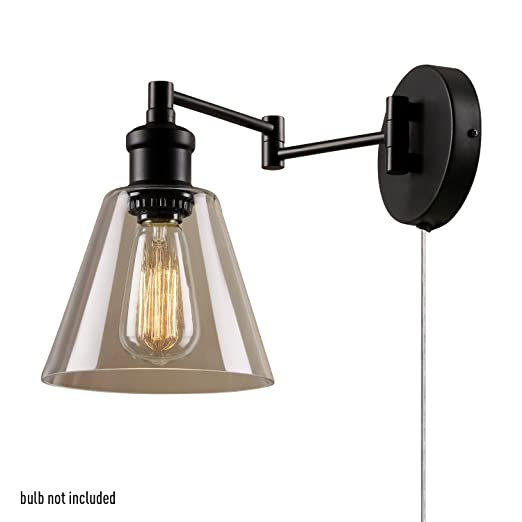 Globe electric 1 light plug in or hardwire industrial wall light globe electric 1 light plug in or hardwire industrial wall light dark bronze aloadofball Gallery