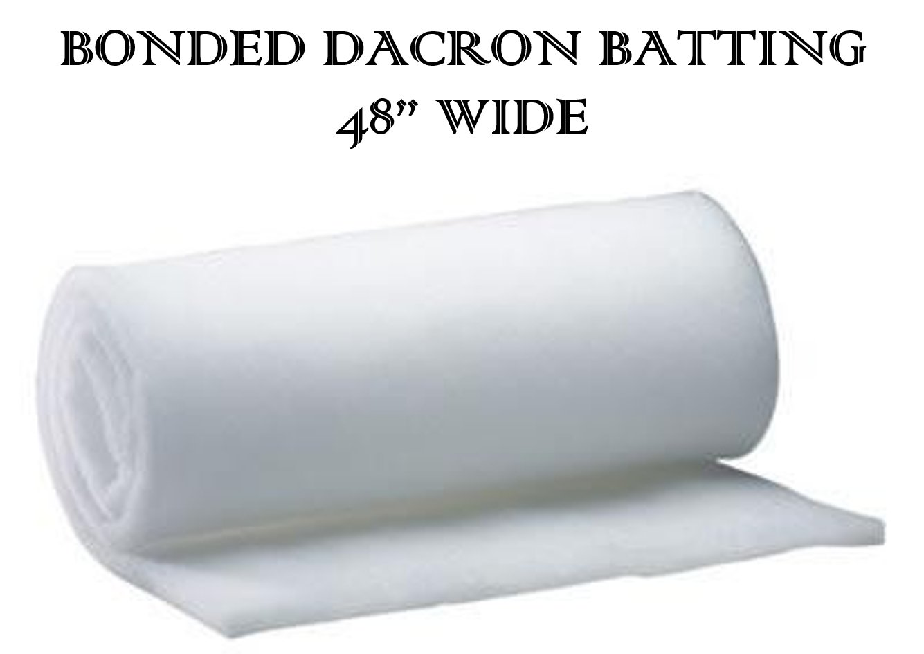 AK-Trading 48 Inch Wide Bonded Dacron Upholstery Grade Polyester Batting (10 Yards) AK TRADING CO.