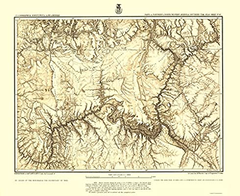 Map Of Arizona Utah.Amazon Com Topographical Map Print Arizona Utah Arizona Utah