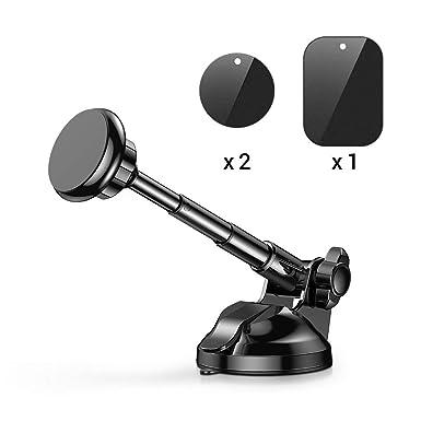 96279f70c Soporte Móvil Coche Magnético, Universal Soporte Smartphone Coche Car Mount  con Brazo telescópico para iPhone