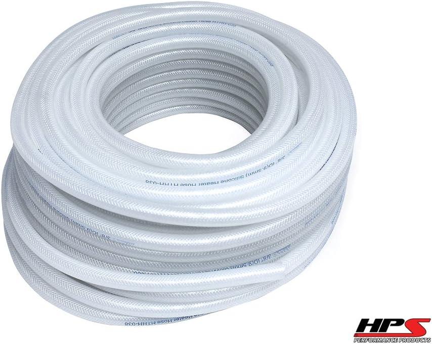 10Feet HPS 3//8 9.5mm High Temp Reinforce Silicone Heater Hose Tube Coolant Black