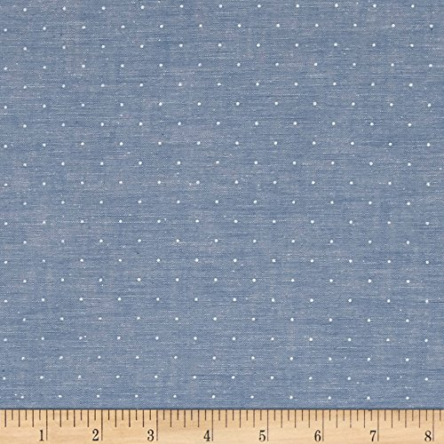 - Robert Kaufman Kaufman Sevenberry Classiques Chambray Dots Denim Fabric by The Yard,