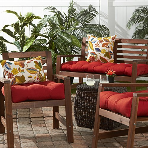 Greendale Home Fashions 51-Inch Indoor/Outdoor Bench Cushion, Salsa