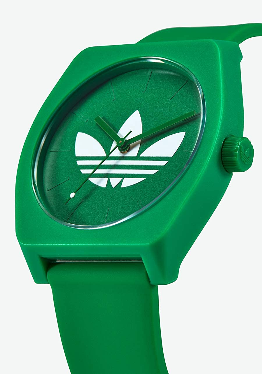 adidas Watches Process_SP1. Silicone Strap, 20mm Width (38 mm). Trefoil/Green