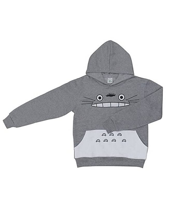 Unisex My Neighbor Totoro Hoodie Sweatshirt Smile Face Casual Pullover Men Women