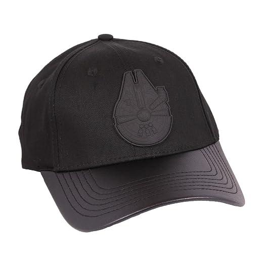 Star Wars Millennium Falcon gorra de béisbol del logotipo negro ...