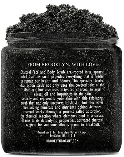Activated-Charcoal-Scrub-10-oz-For-Deep-Cleansing-Exfoliation-Pore-Minimizer-Reduces-Wrinkles-Acne-Scars-Blackhead-Remover-Anti-Cellulite-Treatment-Great-Body-Scrub-Facial-Cleanser
