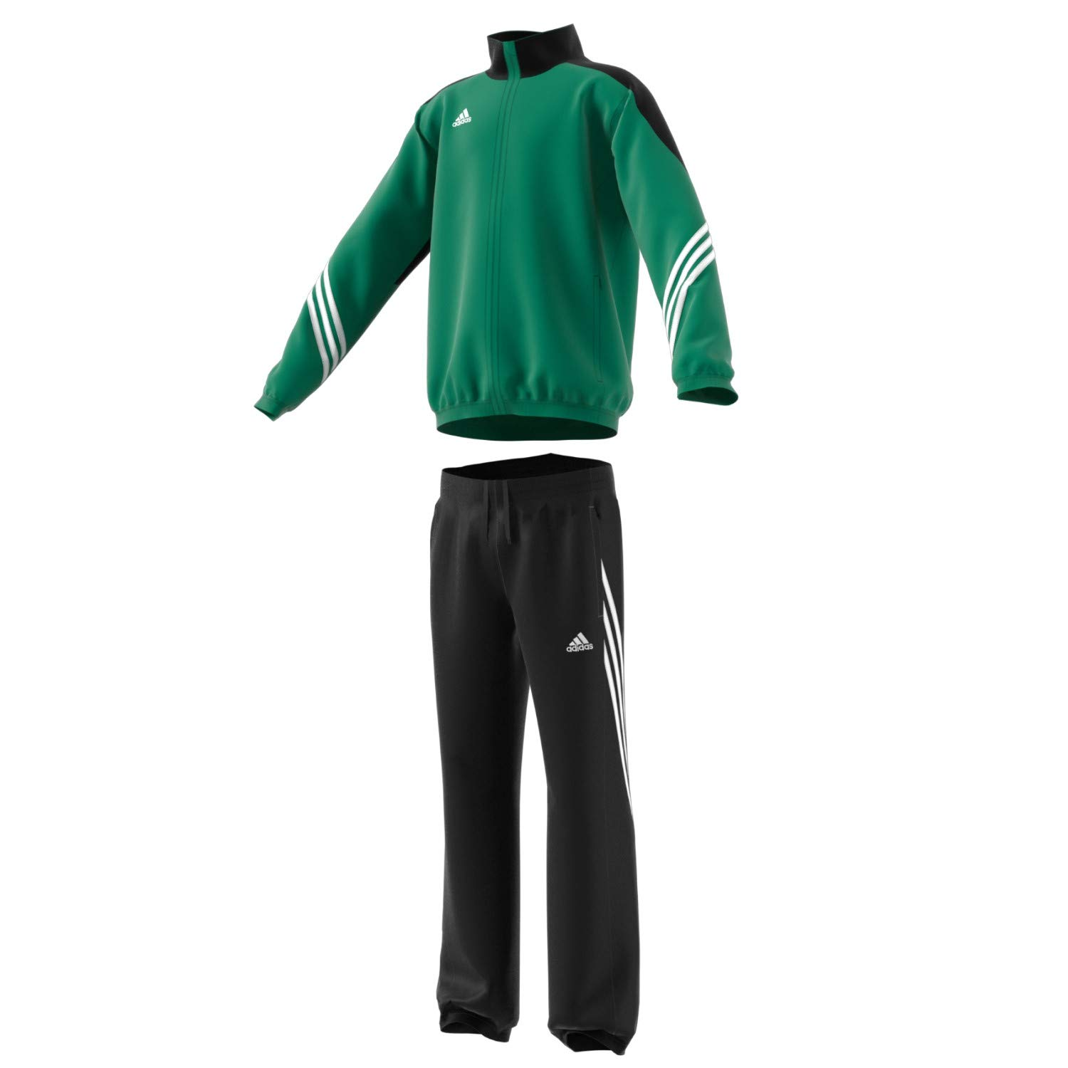 adidas Boys Tracksuit Woven Sereno14 Boys Presentation Football Training Suit Green/Black 7-15 Years F49682