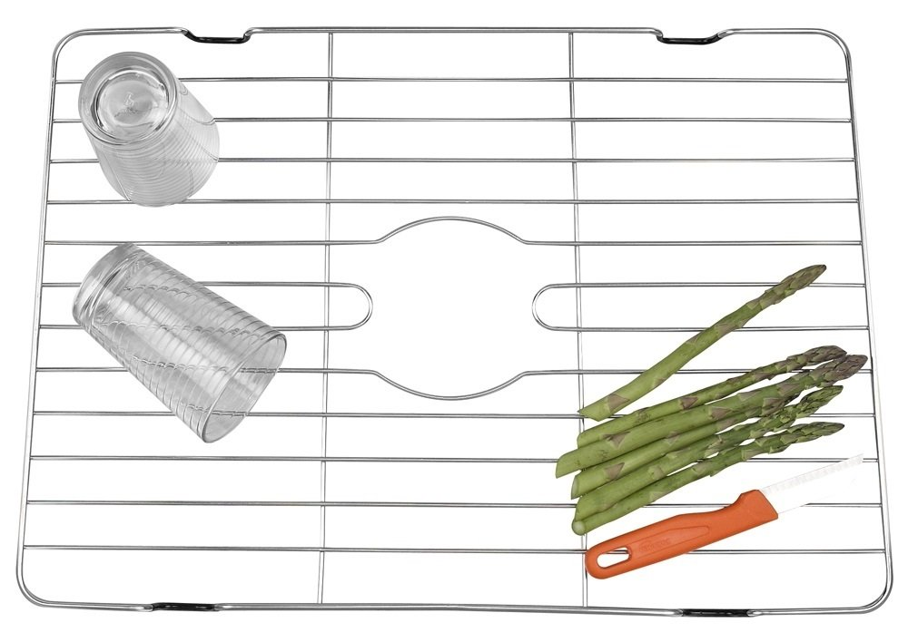 """Large and Extra-Large Sinks kit 23/""""Wx14-3//8/""""L Sink Rack fits Farmhouse Sink Handy in Sink Dish Drying Rack Made of Stainless Steel Grid Better Houseware Kitchen Sink Protector Stainless Steel"""
