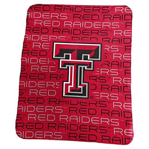 Logo Brands NCAA Texas Tech Red Raiders Unisex Classic Fleececlassic fleece, N/A Texas Tech Comforter