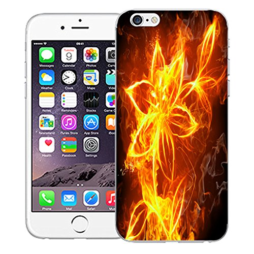 """Mobile Case Mate iPhone 6S Plus 5.5"""" Silicone Coque couverture case cover Pare-chocs + STYLET - Fire Flower pattern (SILICON)"""