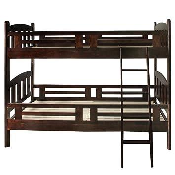 Amazon|タンスのゲン 二段ベッド 安心の耐震設計 天然パイン材